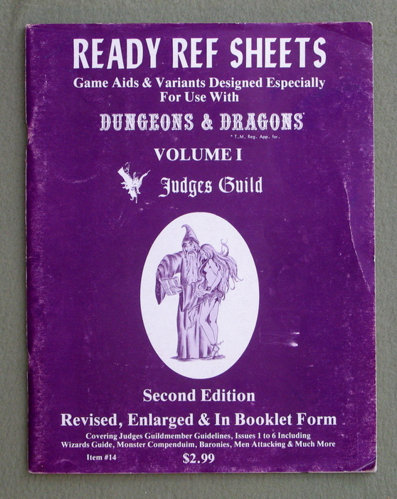 Image for Ready Ref Sheets: Game Aids & Variants Designed Especially For Dungeons & Dragons (Volume 1)