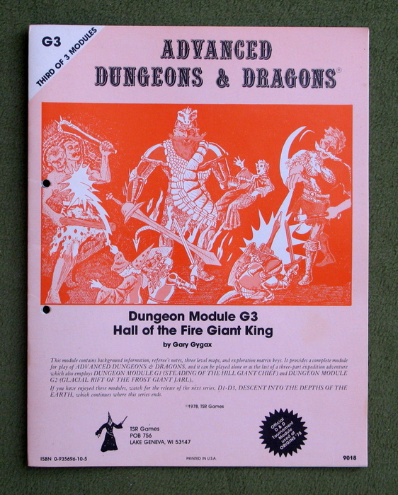 Image for Hall of the Fire Giant King (Advanced Dungeons & Dragons Module G3)