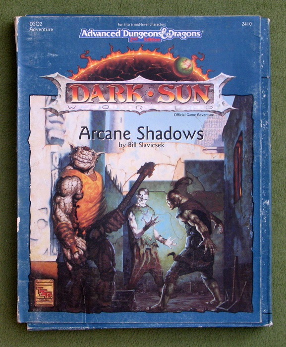 Image for Arcane Shadows (Advanced Dungeons & Dragons: Dark Sun Adventure DSQ2) - PLAY SET
