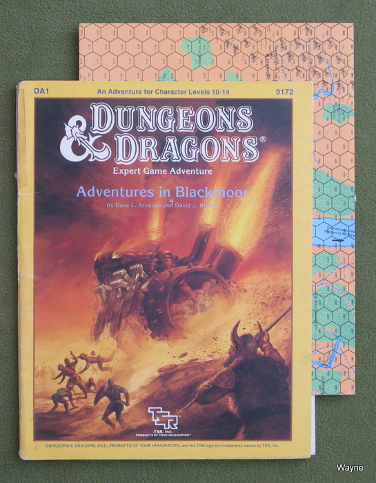 Image for Adventures in Blackmoor (Dungeons & Dragons Module DA1) - PLAY COPY