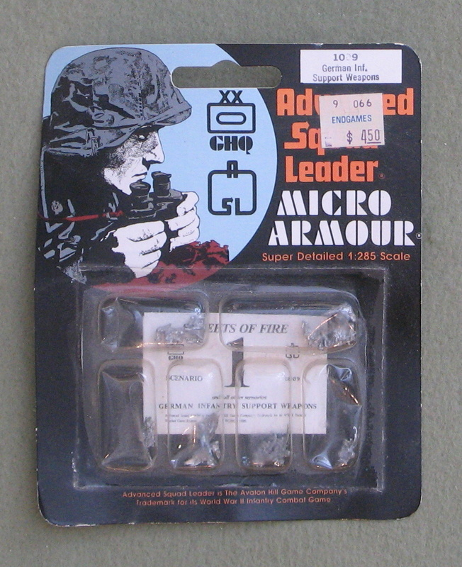 Image for German Infantry Support Weapons - Advanced Squad Leader: Micro Armour (1:285 Scale)