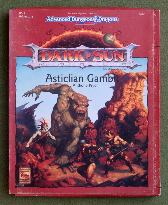 Image for Asticlian Gambit (Advanced Dungeons & Dragons: Dark Sun Adventure DSQ3) - PLAY SET