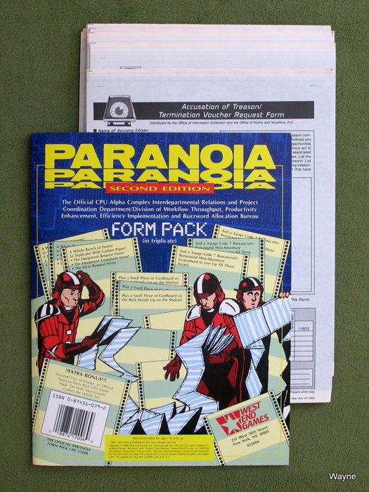 Image for Form Pack (Paranoia, Second Edition)