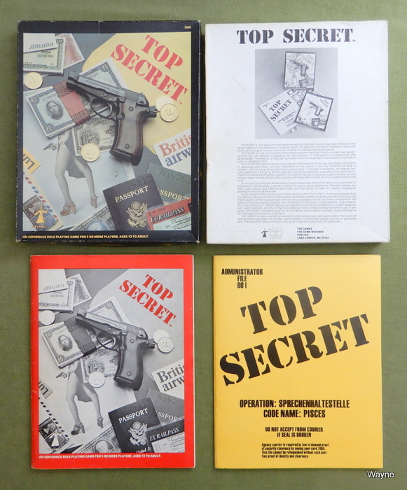 Image for Top Secret: Espionage RPG (1st Edition, 1st Print)