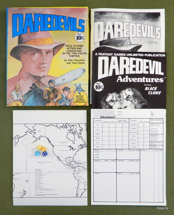 Image for Daredevils: Role Playing Action and Adventure in the Two-Fisted Thirties