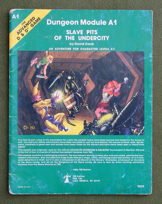 Image for Slave Pits of the Undercity (Advanced Dungeons & Dragons/AD&D Module A1) - PLAY COPY