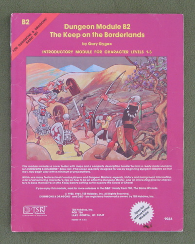 Image for The Keep on the Borderlands (D&D B2) - PLAY COPY