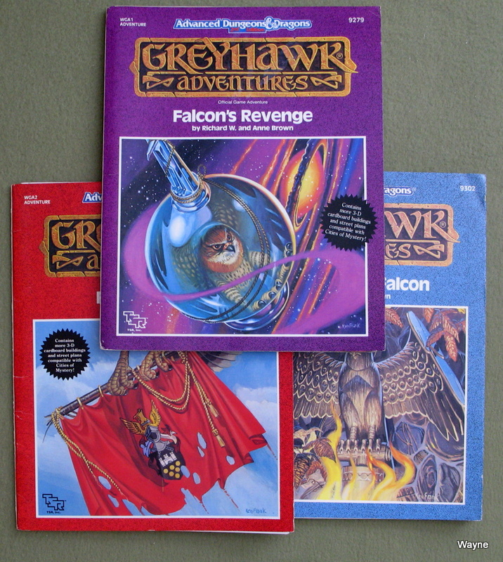 Image for Falcon Module Set (Greyhawk Adventures: Falcon's Revenge, Falconmaster, Flames of the Falcon) - NO BUILDING SHEETS