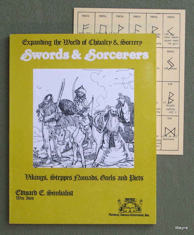 Image for Swords & Sorcerers: Vikings, Steppes Nomads, Gaels and Picts (Chivalry & Sorcery) -  BAD BINDING