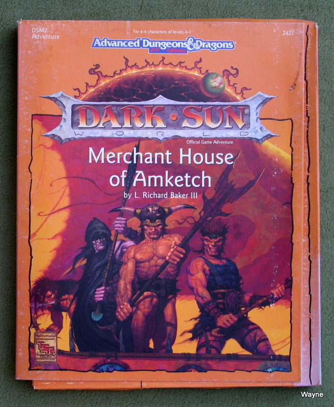 Image for Merchant House of Amketch (Advanced Dungeons & Dragons: Dark Sun Accessory DSM2) - PLAY SET