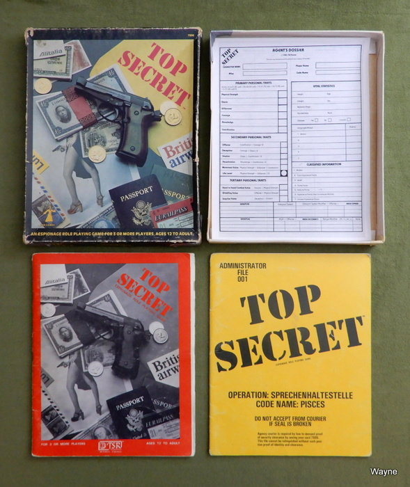 Image for Top Secret: Espionage Role Playing Game - HEAVY WEAR - PLAY SET