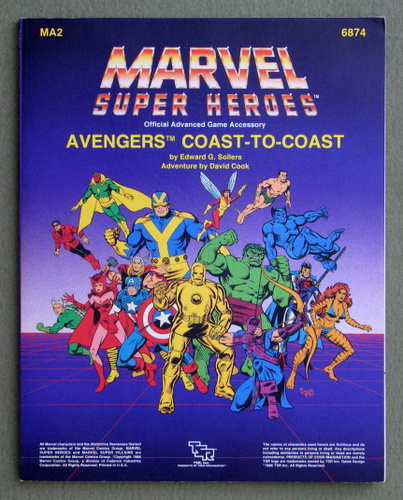 Image for Avengers: Coast to Coast (Marvel Super Heroes Accessory MA2)