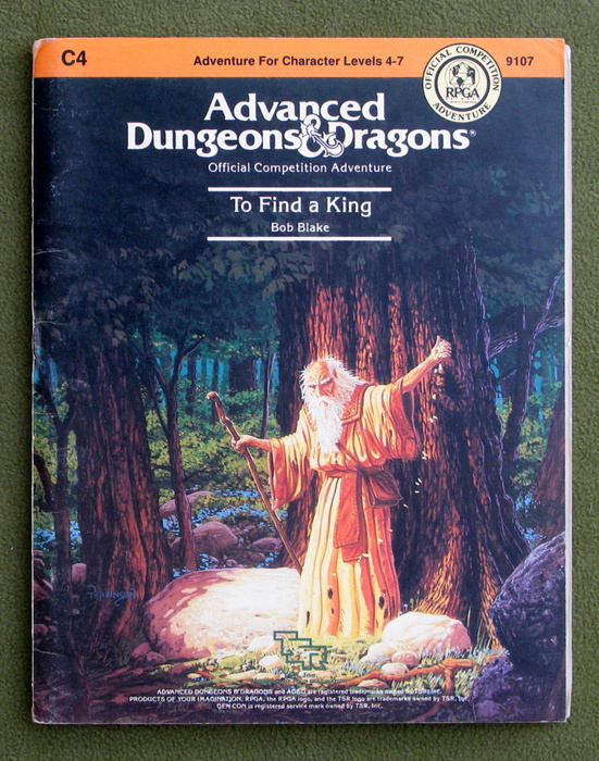 Image for To Find a King (Advanced Dungeons & Dragons Module C4) - PLAY COPY