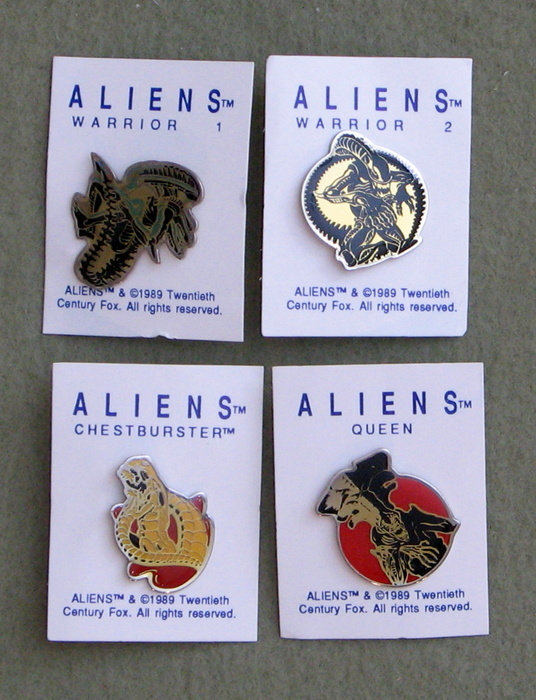 Image for Aliens Lapel Pin Set: Warrior 1&2, Chestburster, Queen