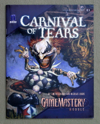 Image for Carnival of Tears (Pathfinder Module E1)