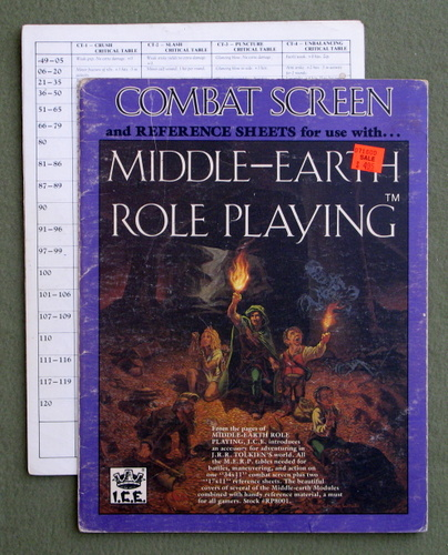 Image for Combat Screen and Reference Sheets (MERP/Middle Earth Role Playing) - PLAY SET