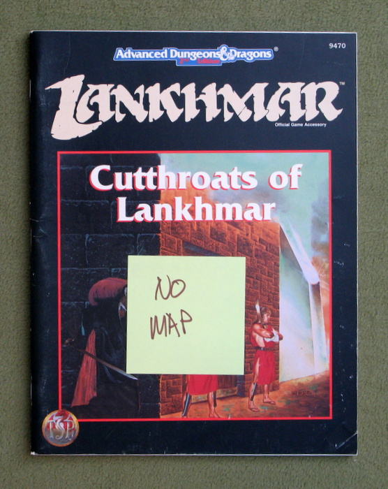 Image for Cutthroats of Lankhmar (Advanced Dungeons and Dragons 2nd Edition) - MISSING MAP