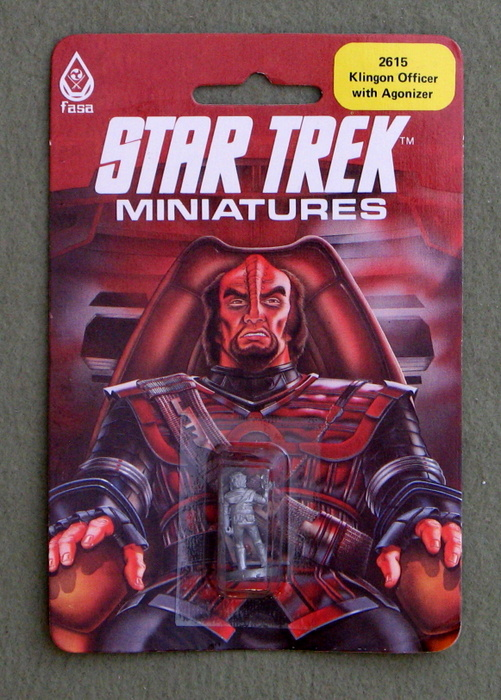 Image for Klingon Officer with Agonizer: Metal Miniature (Star Trek Miniatures)