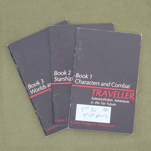 Image for Traveller RPG: Original Little Black Books 1-3: Core Rules - NO BOX