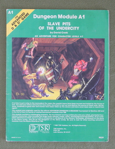 Image for Slave Pits of the Undercity (Advanced Dungeons & Dragons Module A1)