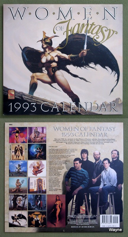 Image for 1993 Women of Fantasy Calendar