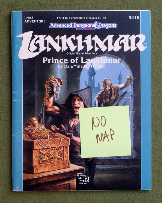 Image for Prince of Lankhmar (Advanced Dungeon and Dragons Module LNA3) - MISSING MAP