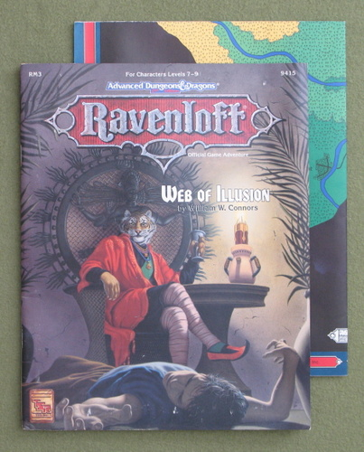 Image for Web of Illusion (Advanced Dungeons & Dragons: Ravenloft Module RM3)