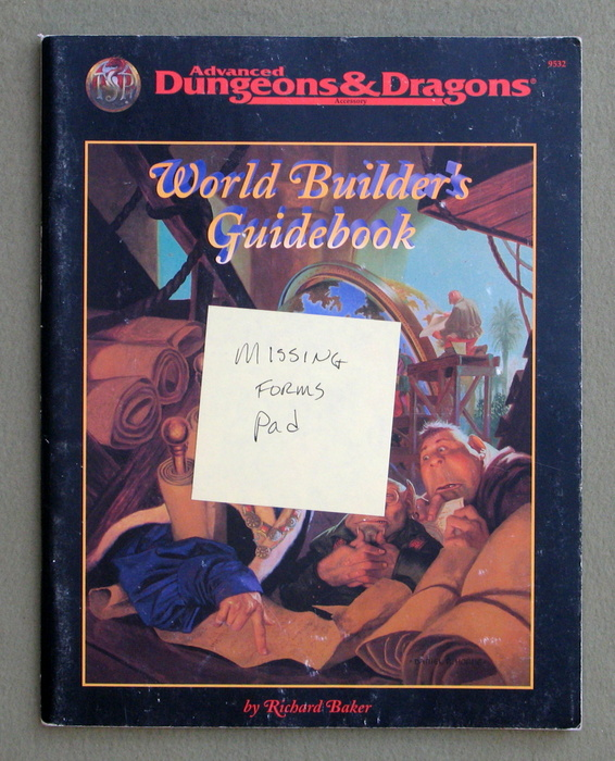 Image for World Builder's Guide Book (Advanced Dungeons & Dragons, 2nd edition)