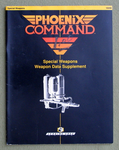 Image for Special Weapons Data Supplement (Phoenix Command)
