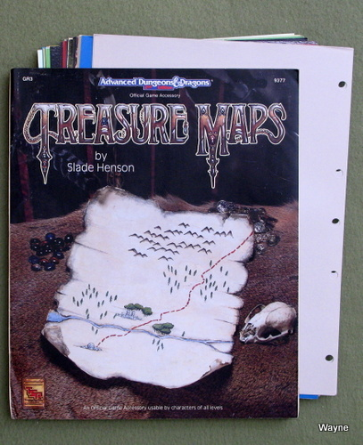 Image for Treasure Maps (Advanced Dungeons & Dragons Accessory GR3)