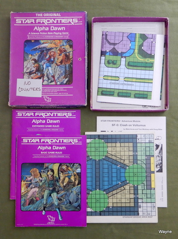 Image for Star Frontiers: Alpha Dawn - WORN PLAY SET - NO COUNTERS