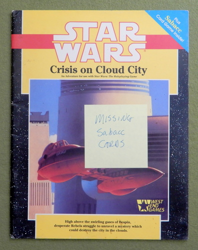 Image for Crisis on Cloud City (Star Wars RPG) - NO SABACC CARDS