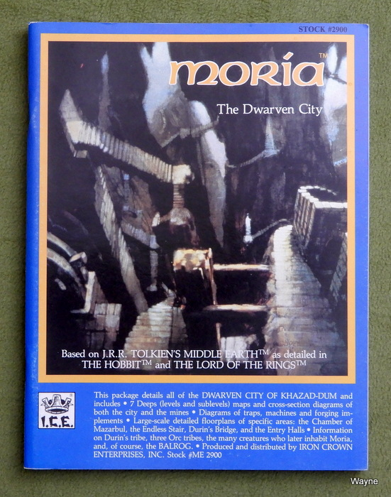 Image for Moria: The Dwarven City (Middle Earth Role Playing/MERP)