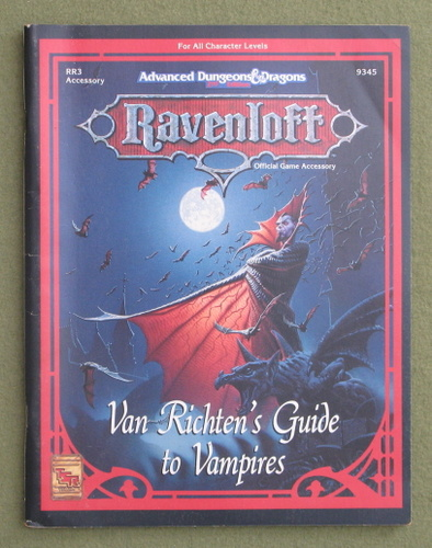 Image for Van Richten's Guide to Vampires (Advanced Dungeons & Dragons: Ravenloft Accessory RR3)