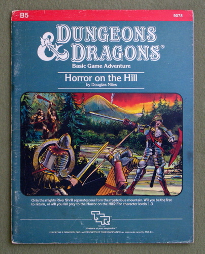 Image for Horror on the Hill (Dungeons & Dragons Module B5) - PLAY COPY