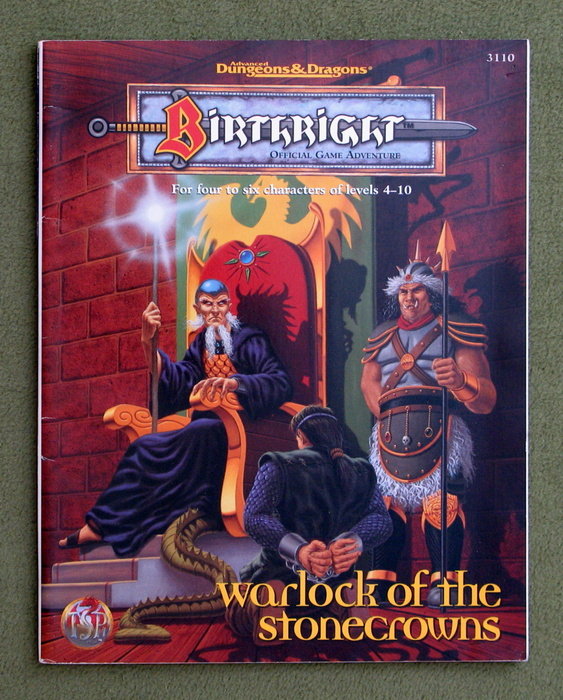 Image for Warlock of the Stonecrowns (Advanced Dungeons & Dragons: Birthright Adventure)
