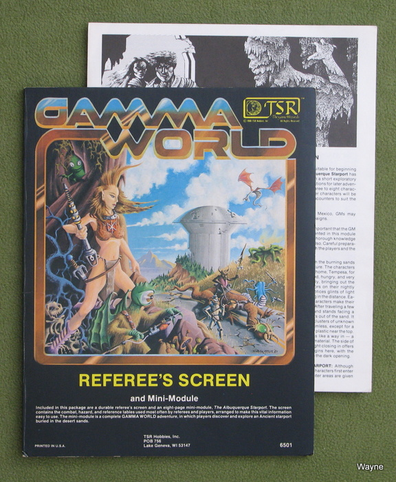 Image for Referee's Screen and Mini-Module (Gamma World RPG 1st edition)