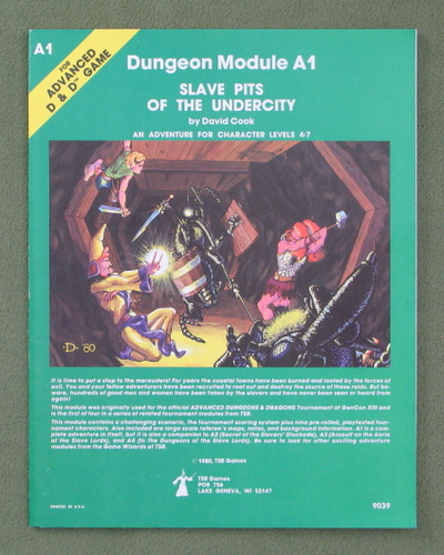 Image for Slave Pits of the Undercity (AD&D Module A1) - GLOSSY INTERIOR