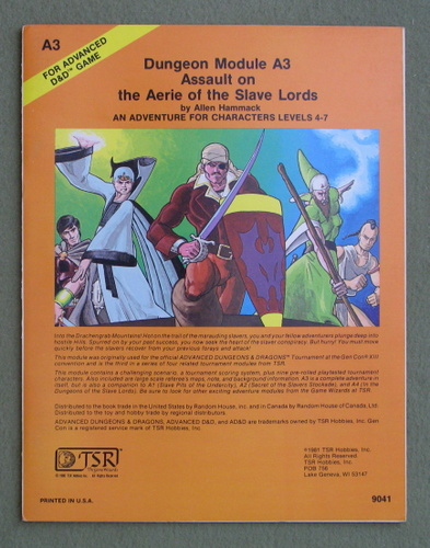 Image for Assault on the Aerie of the Slave Lords (Advanced Dungeons & Dragons module A3)