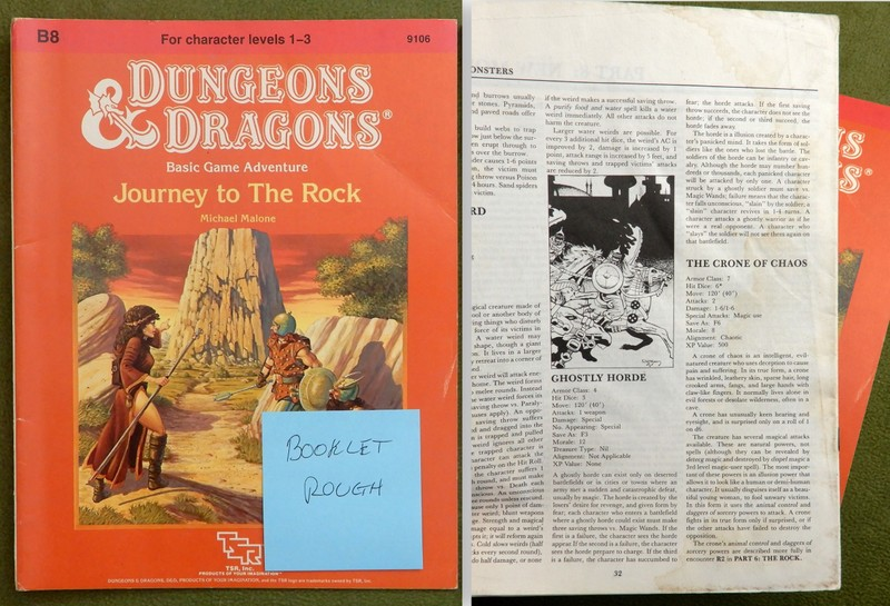 Image for Journey to the Rock (D&D Module B8) - ROUGH BOOKLET