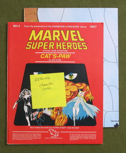 Image for Cat's-Paw (Marvel Super Heroes MH5) - MISSING CHARACTER CARDS
