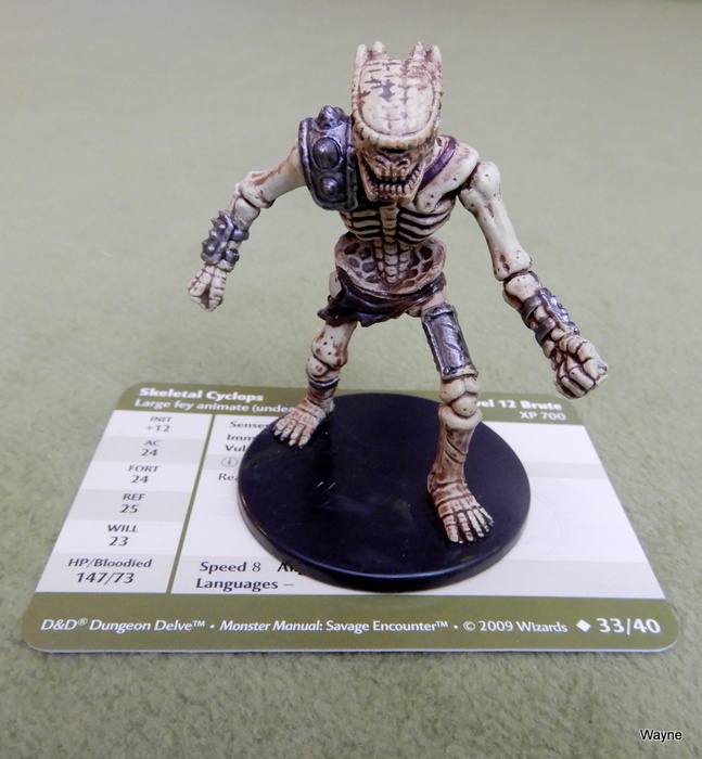 Image for Skeletal Cyclops (Dungeons and Dragons Savage Encounters Miniature 33/40)