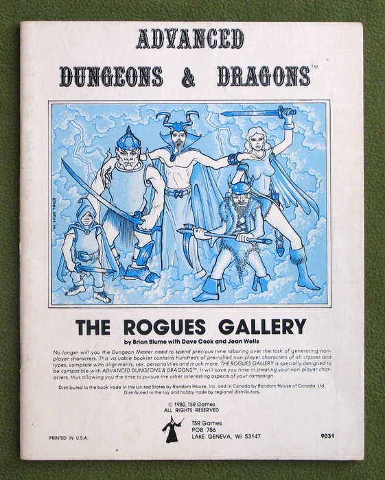 Image for Rogues Gallery: A Compendium of Non-Player Characters (Advanced Dungeons and Dragons)