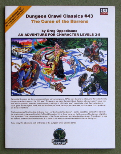 Image for Curse of the Barrens (Dungeon Crawl Classics 43)