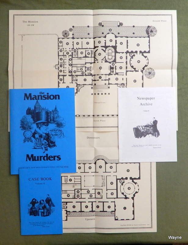 Image for The Mansion Murders (Sherlock Holmes Consulting Detective) - NO BOX