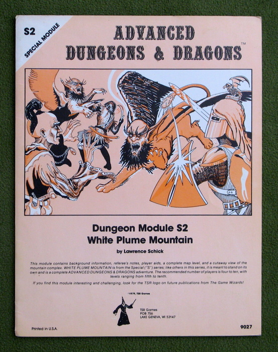 Image for White Plume Mountain (Advanced Dungeons & Dragons module S2) - 1ST/LAST PAGES SEPARATED
