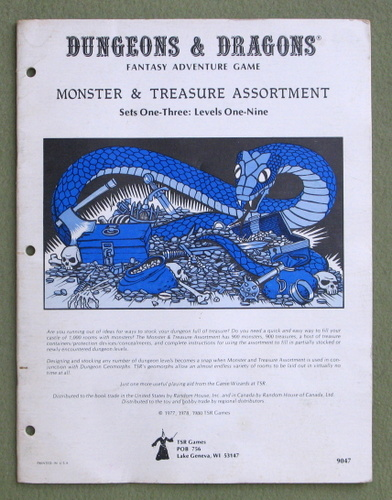 Image for Dungeons & Dragons Monster & Treasure Assortment: Set One-Three: Levels One-Nine - PLAY COPY