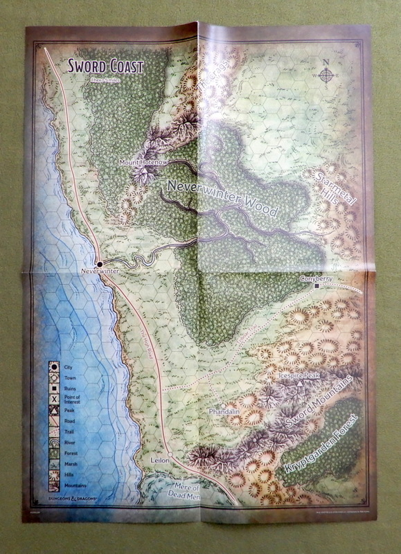 Image for Sword Coast & Phandalin Poster Map (Dungeons & Dragons 5e)