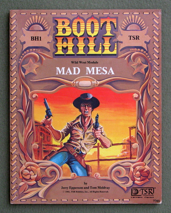 Image for Mad Mesa (Boot Hill RPG module BH1) - PLAY COPY