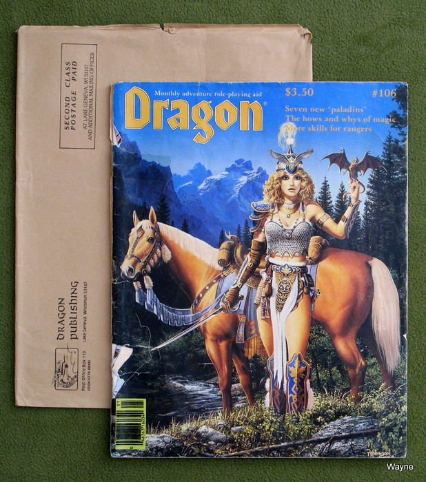 Image for Dragon Magazine, Issue 106 - COVER SEPARATED
